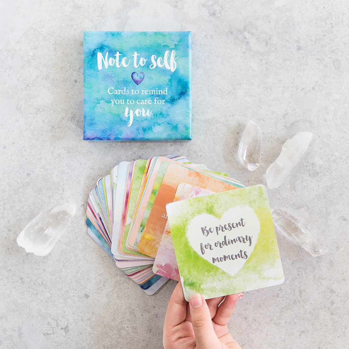 affirmation cards by naughty naturopath mum