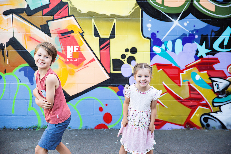 street art Newcastle, kids portrait photography